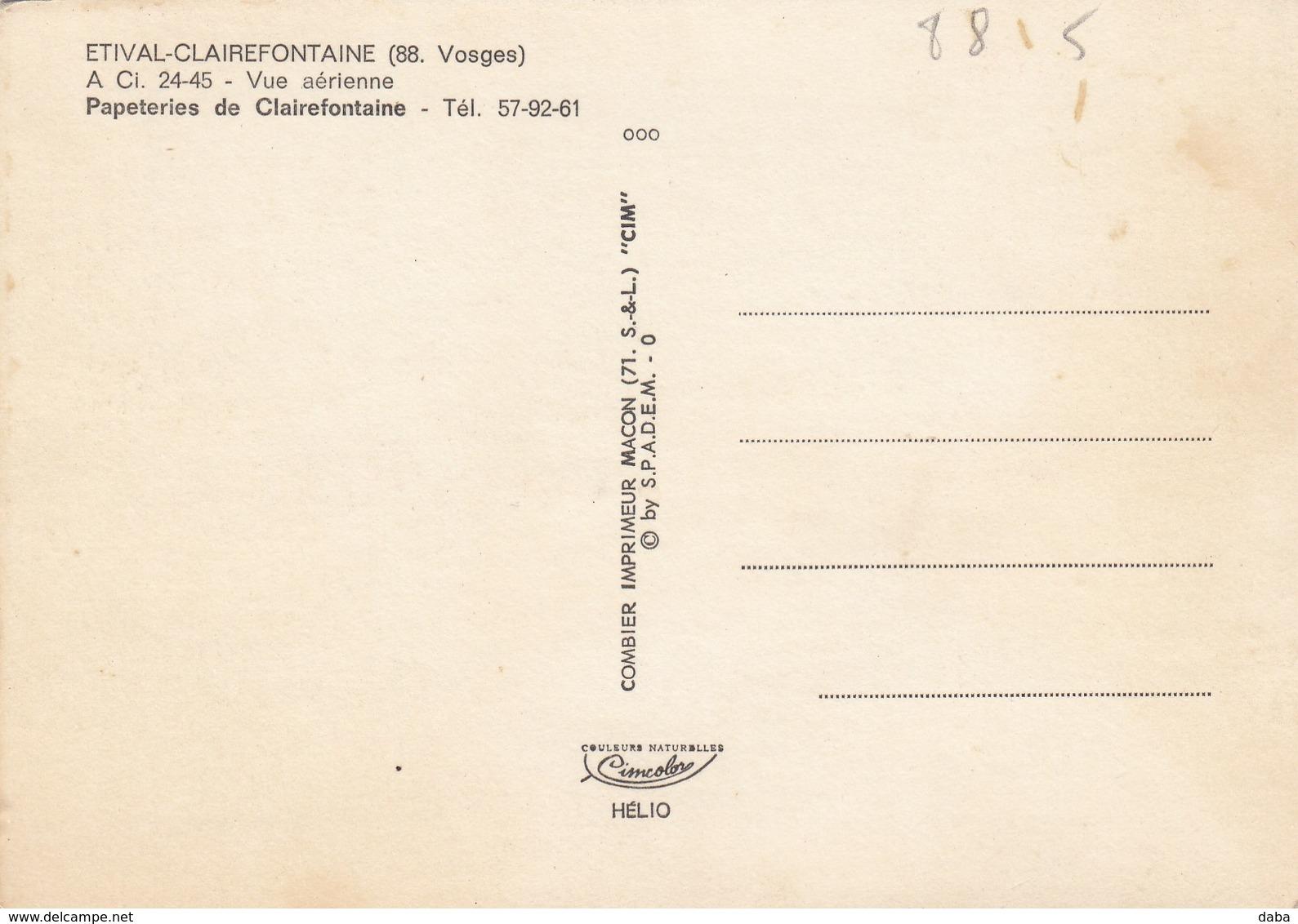 Etival-Clairefontaine.  Vue Aérienne Papeterie De Clairefontaine - Etival Clairefontaine