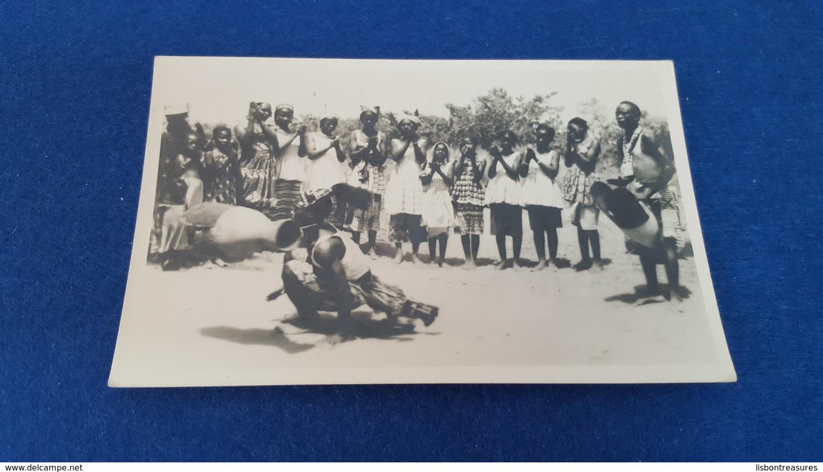 """ANTIQUE PHOTO POSTCARD GUINEA BISSAU - ETHNOGRAPHIC """" JUDEU DO TAMBOR FULAS - XITOLE """" UNUSED - Guinea-Bissau"""