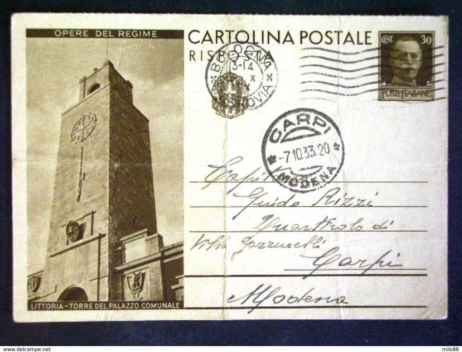 LAZIO -LATINA -LITTORIA -F.G. LOTTO N°154 - Latina