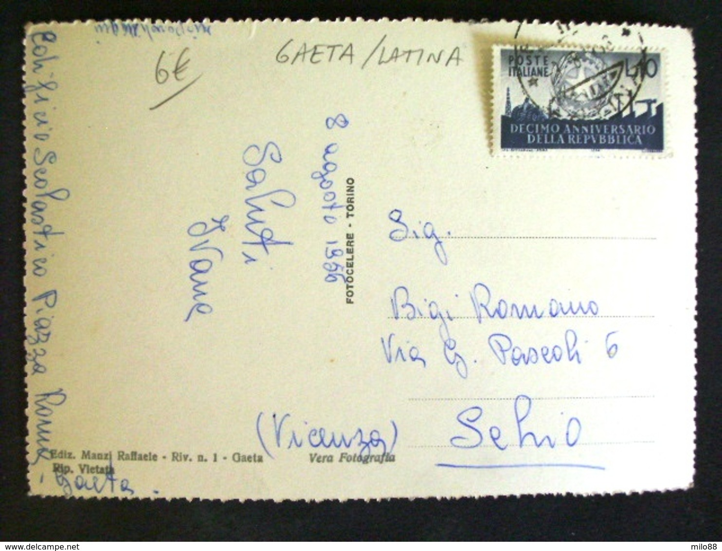 LAZIO -LATINA -GAETA -F.G. LOTTO N°154 - Latina