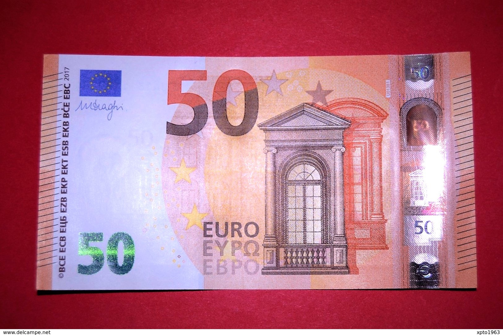 50 EURO FRANCE - U013B1 - UA1311199284 - UNC DRAGHI - 50 Euro