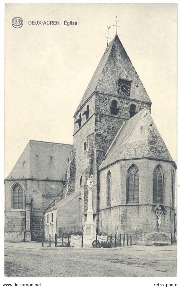 Cpa Belgique - Deux-Acren - Eglise - Belgique