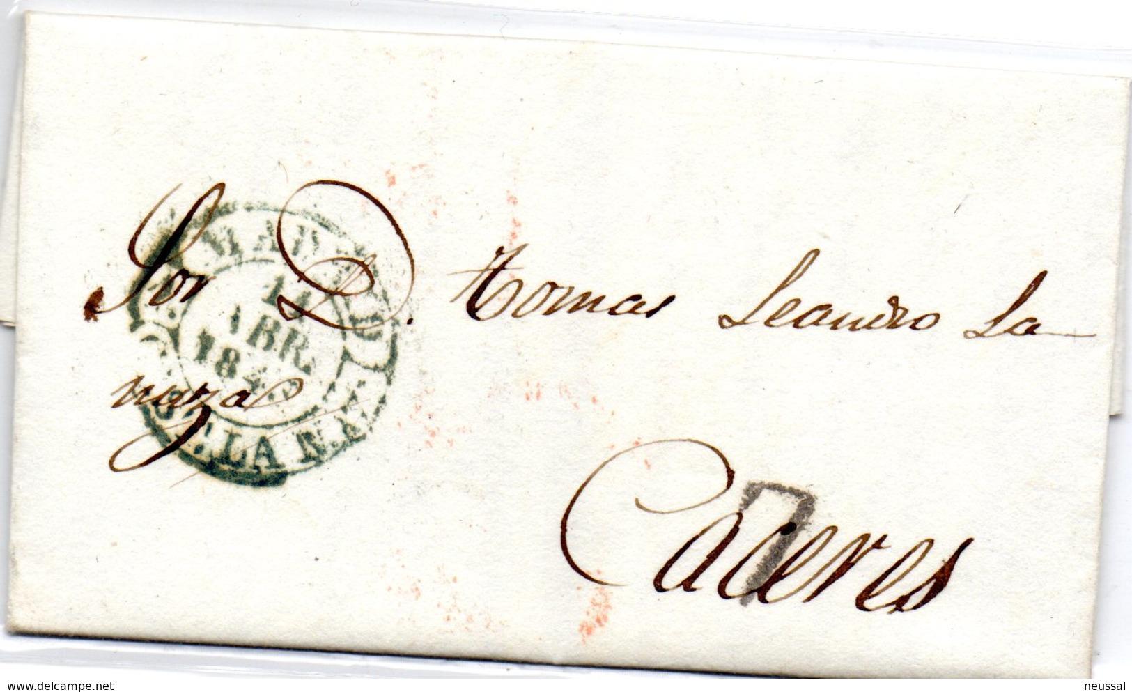 Carta Prefilatelica  Dirigida A Caceres Con Varios Matasellos. - Espagne
