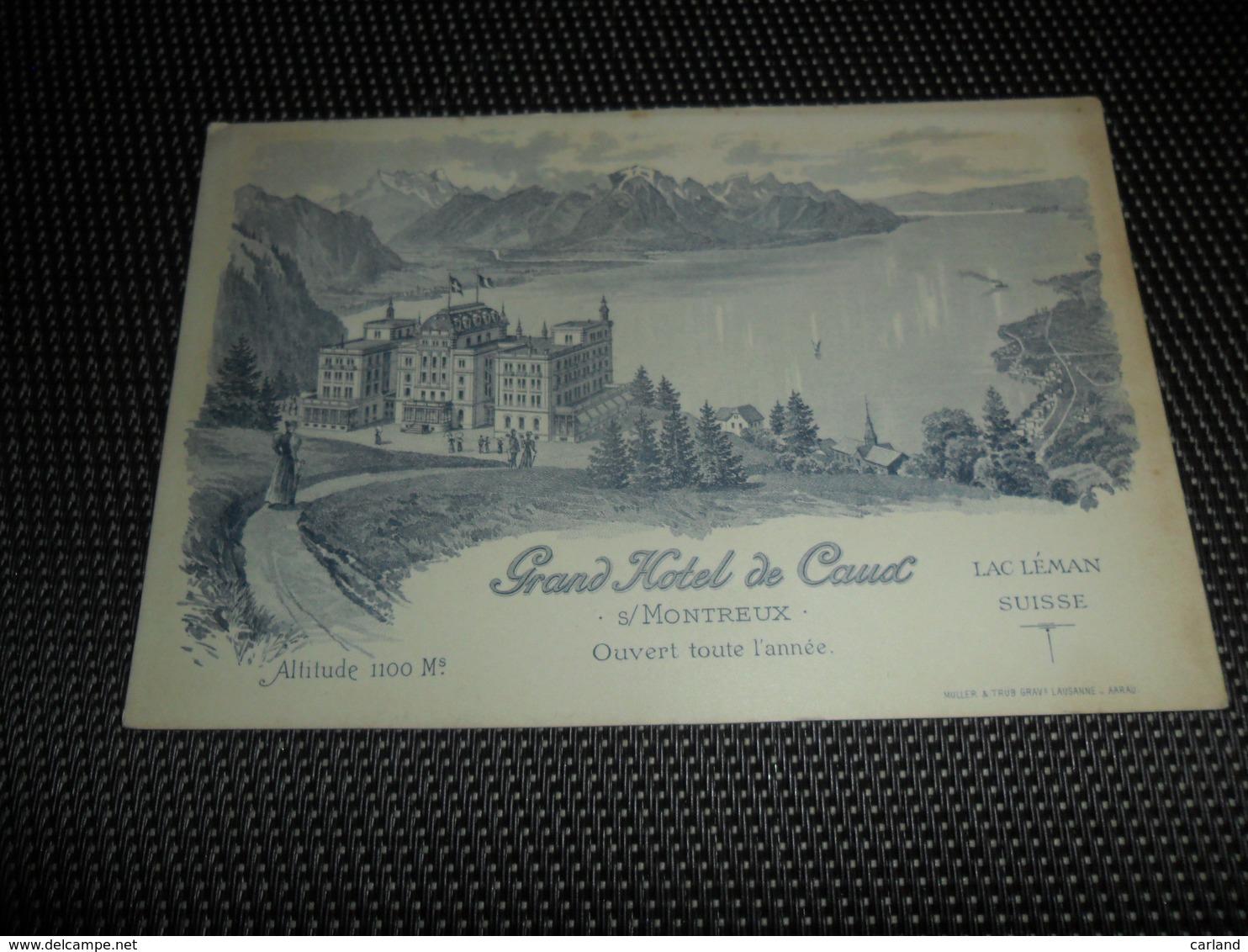 Suisse  Zwitserland   ( Pas Une Carte Postale )  Grand Hôtel De Caux S / Montreux - Suisse