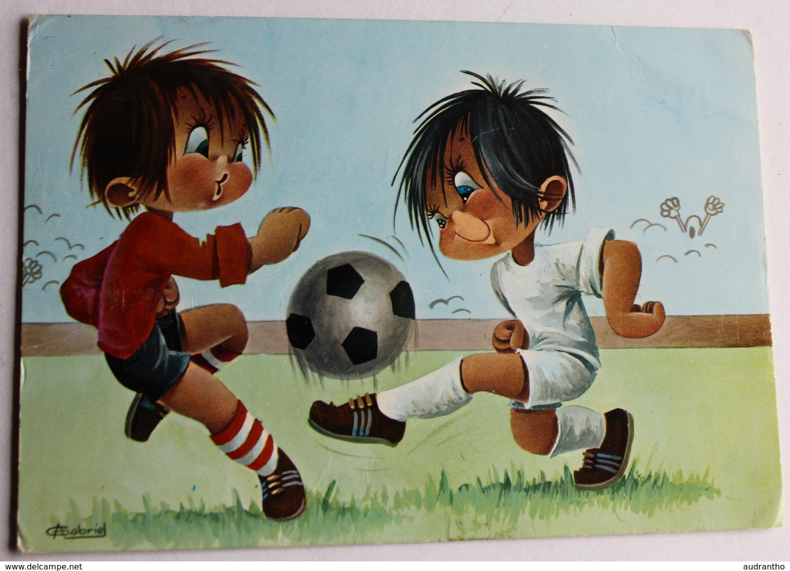 Carte Postale Illustrateur Gabriel Sport Football Enfant Années 70 - Carrière, Louis
