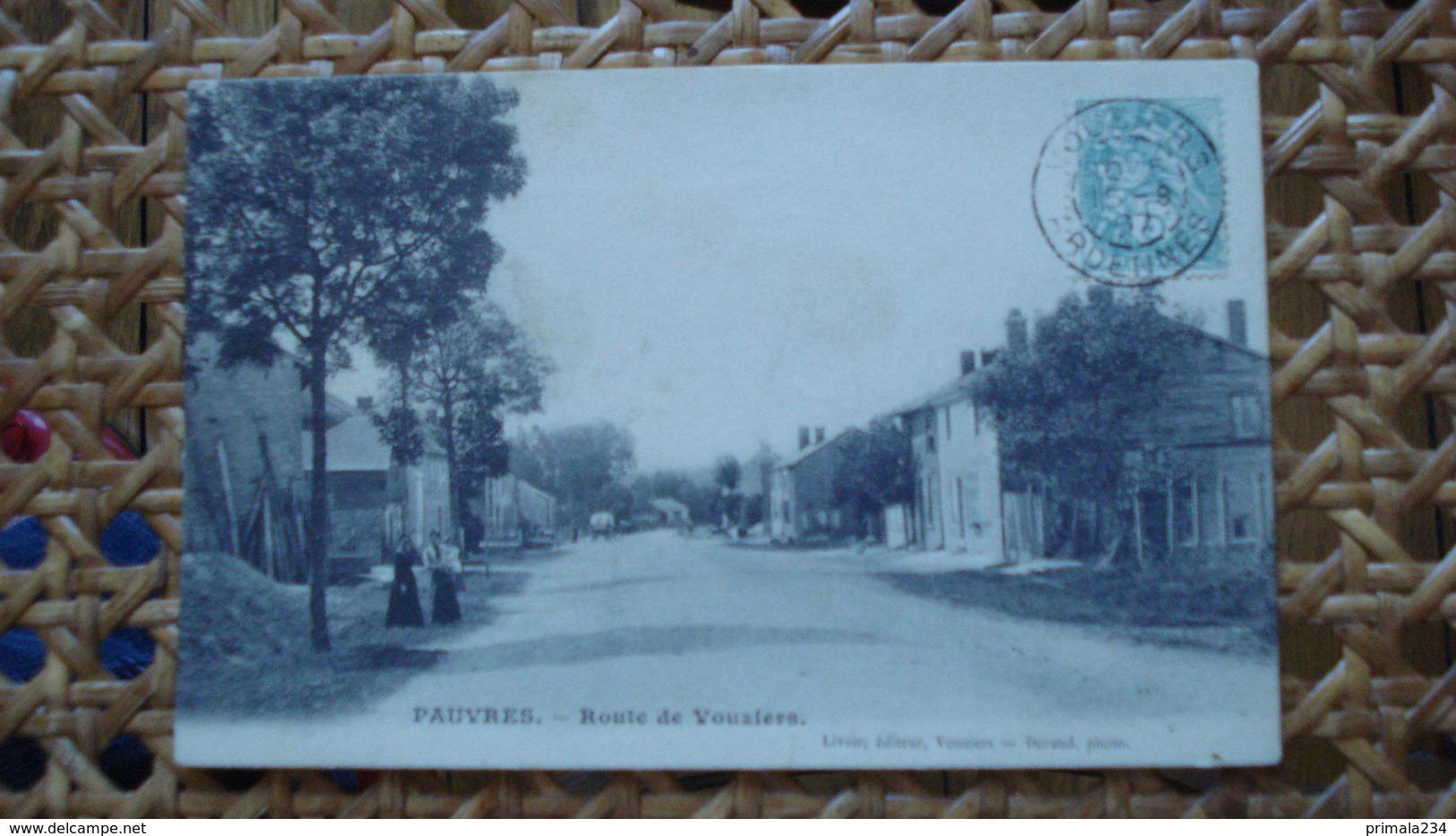 PAUVRES - ROUTE DE VOUZIERS - France