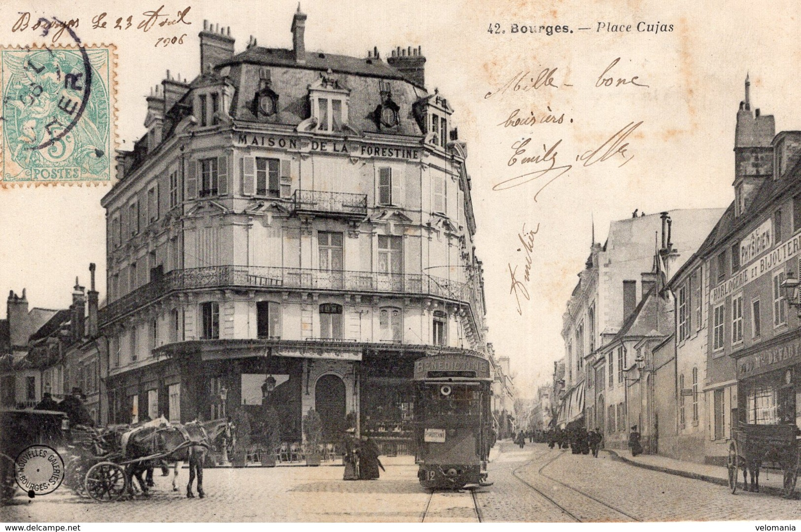 2755 Cpa 18 Bourges - Place Cujas - Bourges