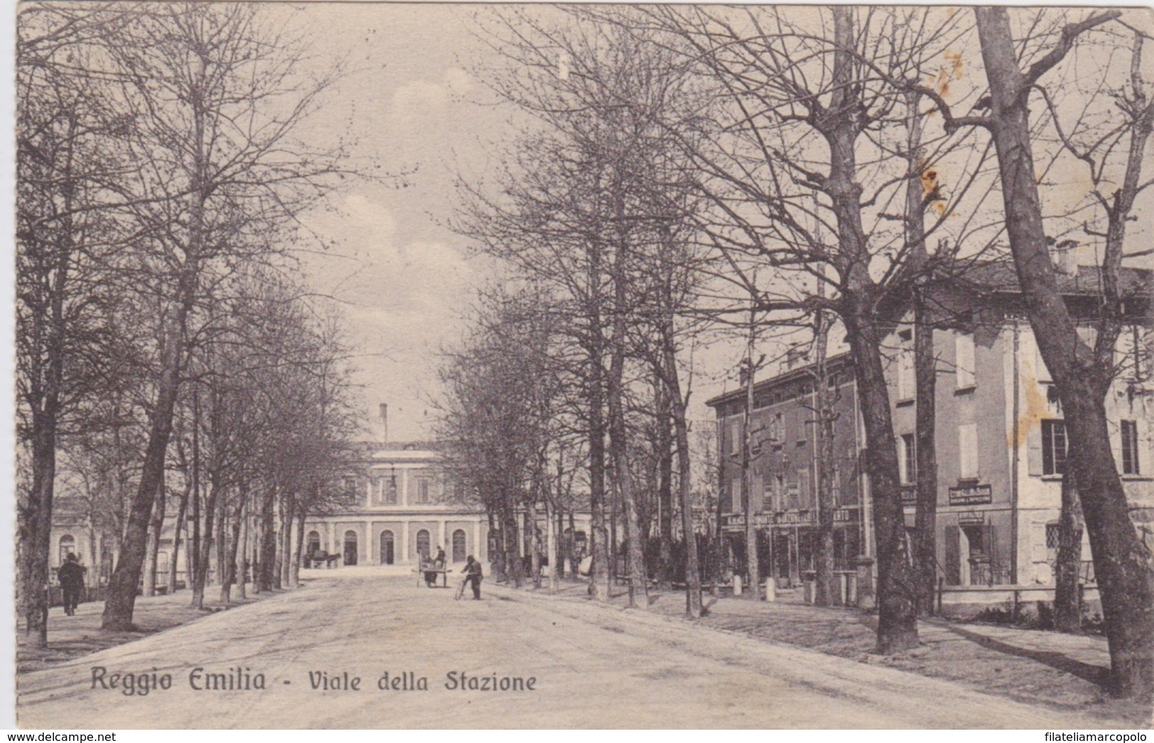 REGGIO EMILIA - VIALE DELLA STAZIONE - CARTOLINA VIAGGIATA NEL 1914 - - Reggio Nell'Emilia