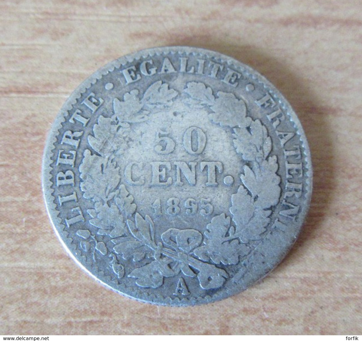 France - Monnaie 50 Centimes Cérès 1895 A En Argent - G. 50 Centimes