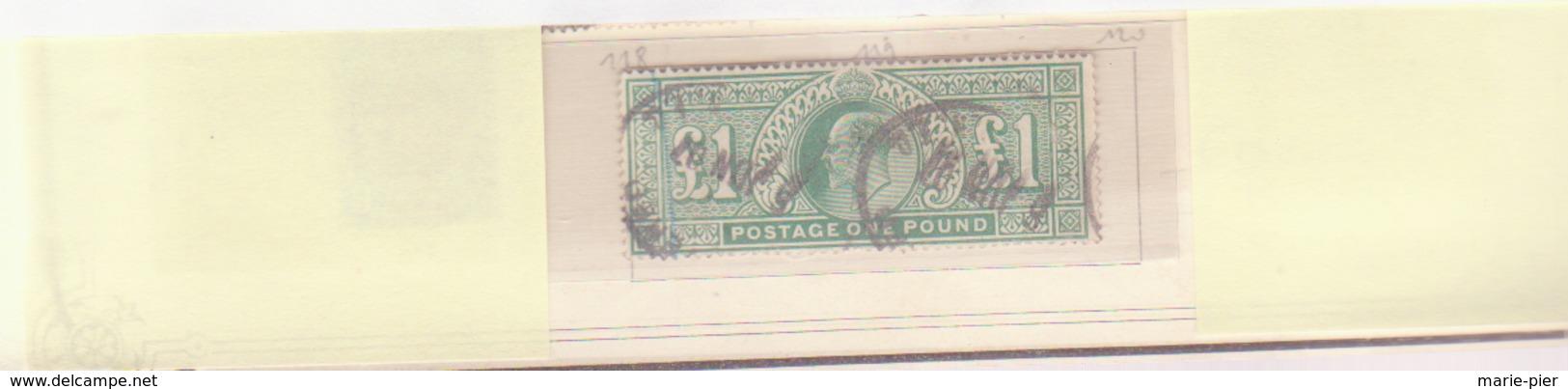 Timbre N°121- Yvert Et Tellier. - 1902-1951 (Rois)