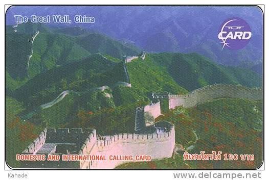 Thailand Phonecard TOT New Nr.234 Chin. Mauer - Thaïland