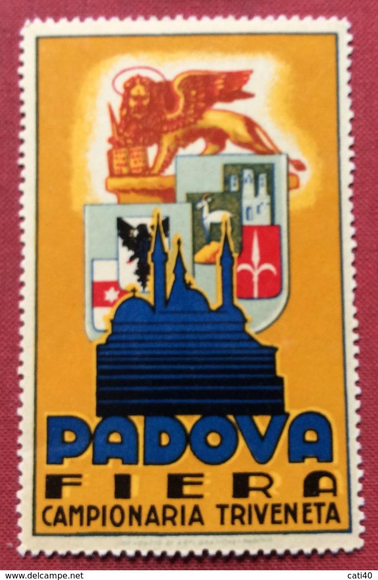 PADOVA FIERA CAMPIONARIA TRIVENETA  ETICHETTA PUBBLICITARIA  ERINNOFILO - Cinderellas