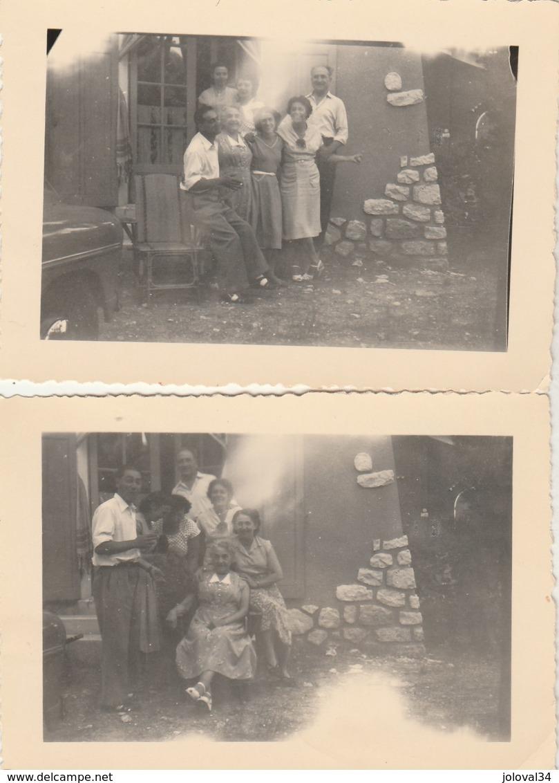 Lot 2 Photos Format 9,5 X 6,5 Cm - 1952 SAUSSET Les Pins Bouches Du Rhône - Animées - 2 Scan - Lieux