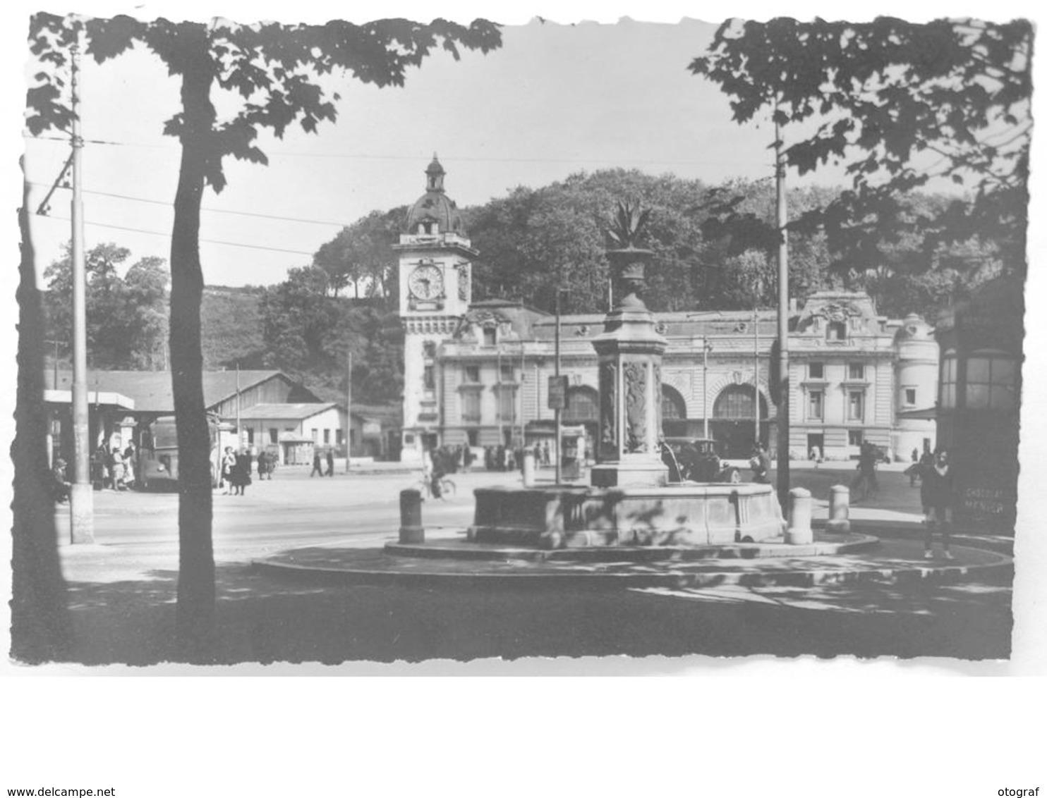 CPSM - BAYONNE - Place De La République Et La Gare - Bayonne