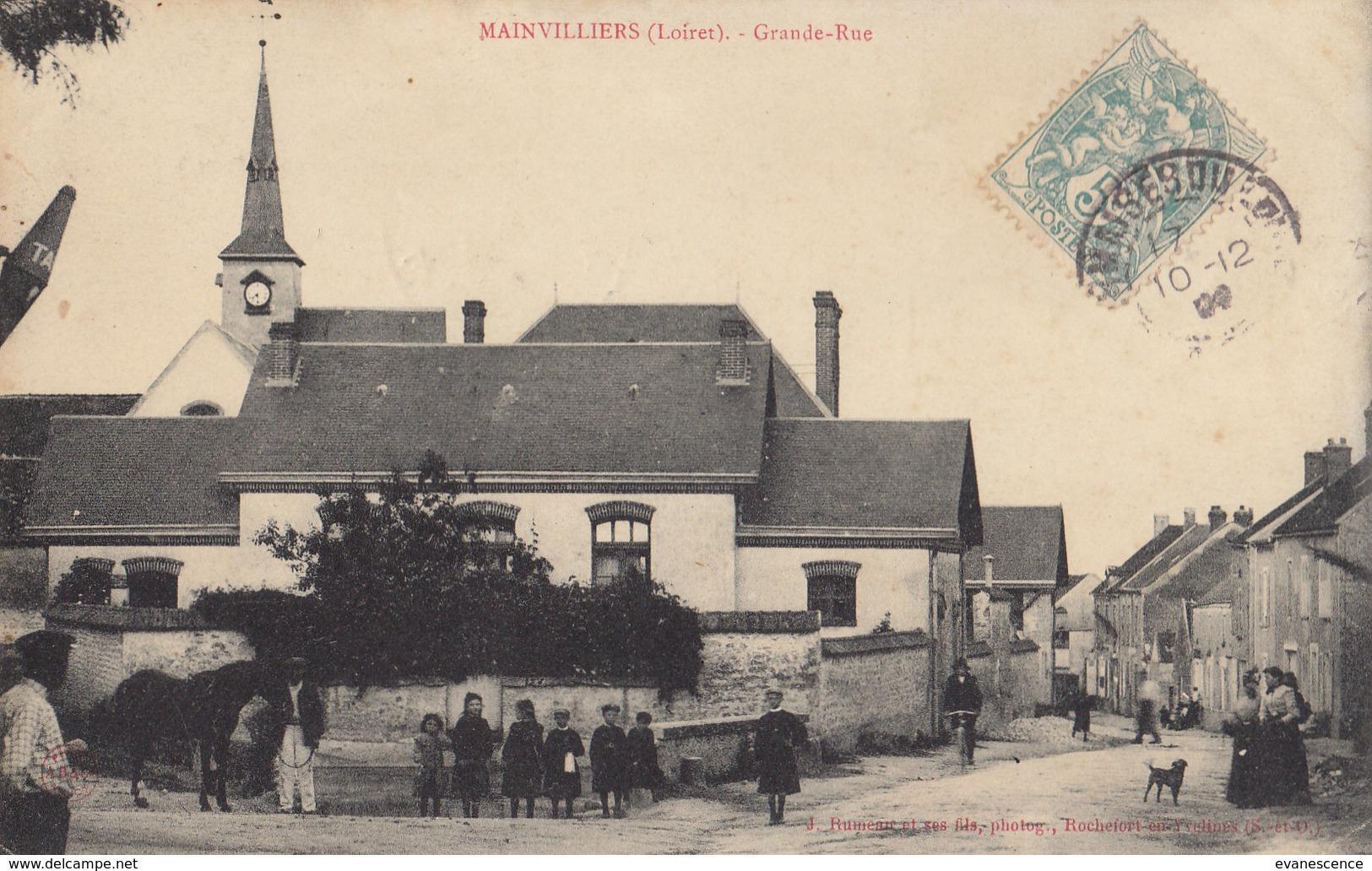 45 :  Mainvilliers : Grande Rue       ///  REF   AVRIL. 19 /// BO.45 - France