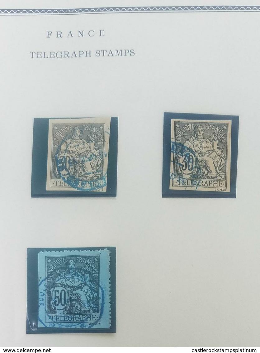 O) 1896 CIRCA-FRANCE, LIBERTY AND PEACE - TELEGRAPHE, XF - 1876-1898 Sage (Type II)