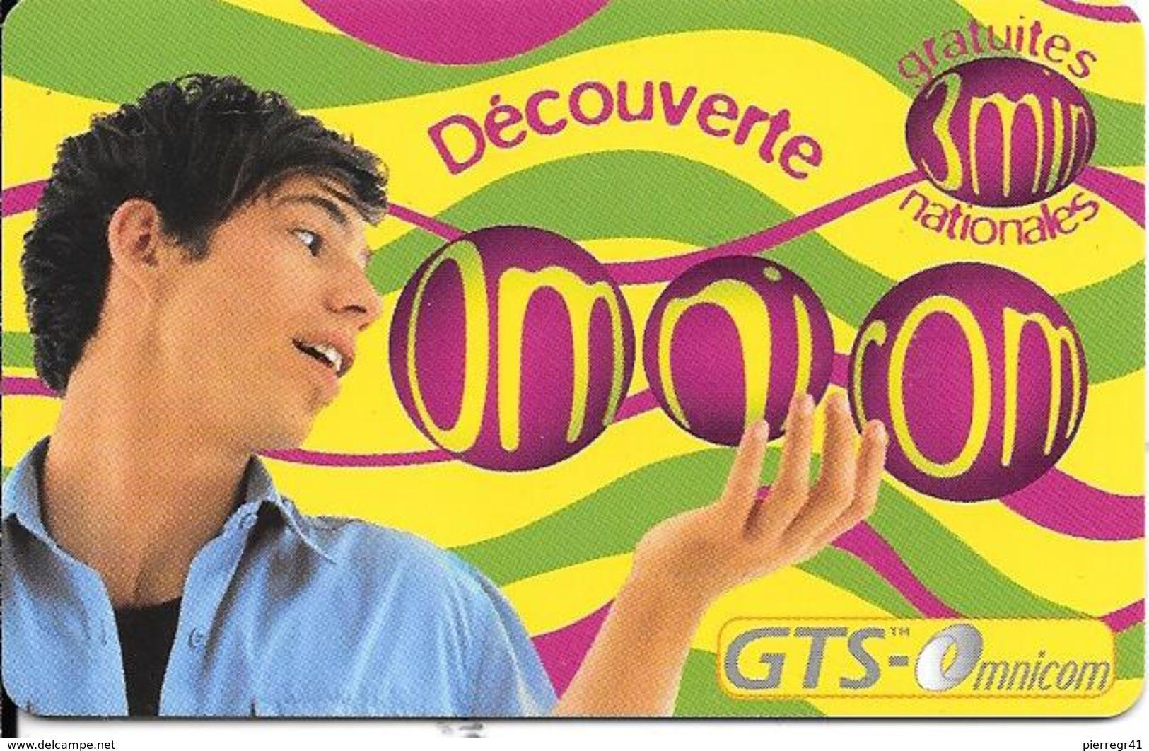 CARTE-PREPAYEE-OMNICOM-3Mn Gratuit-HOMME-FRANCE-31/08/2000-NON GRATTE-TBE - Autres Prépayées