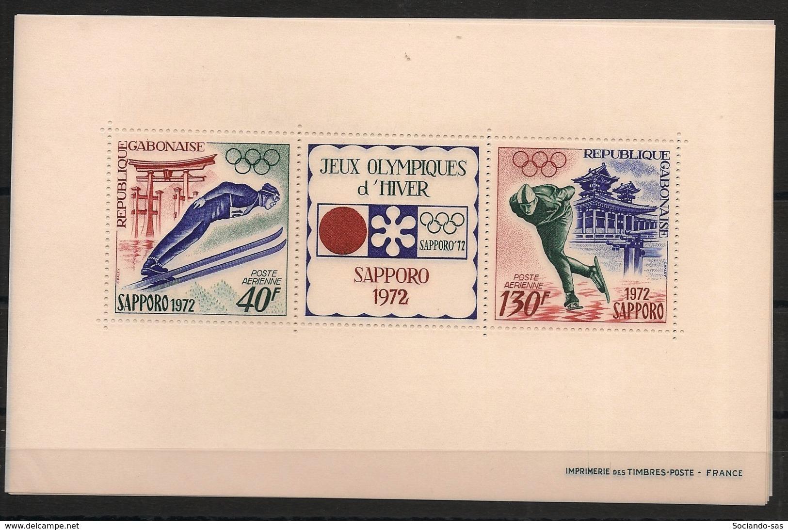Gabon - 1972 - Bloc Feuillet BF N°Yv. 19 - Olympics / Sapporo - Neuf Luxe ** / MNH / Postfrisch - Gabun (1960-...)