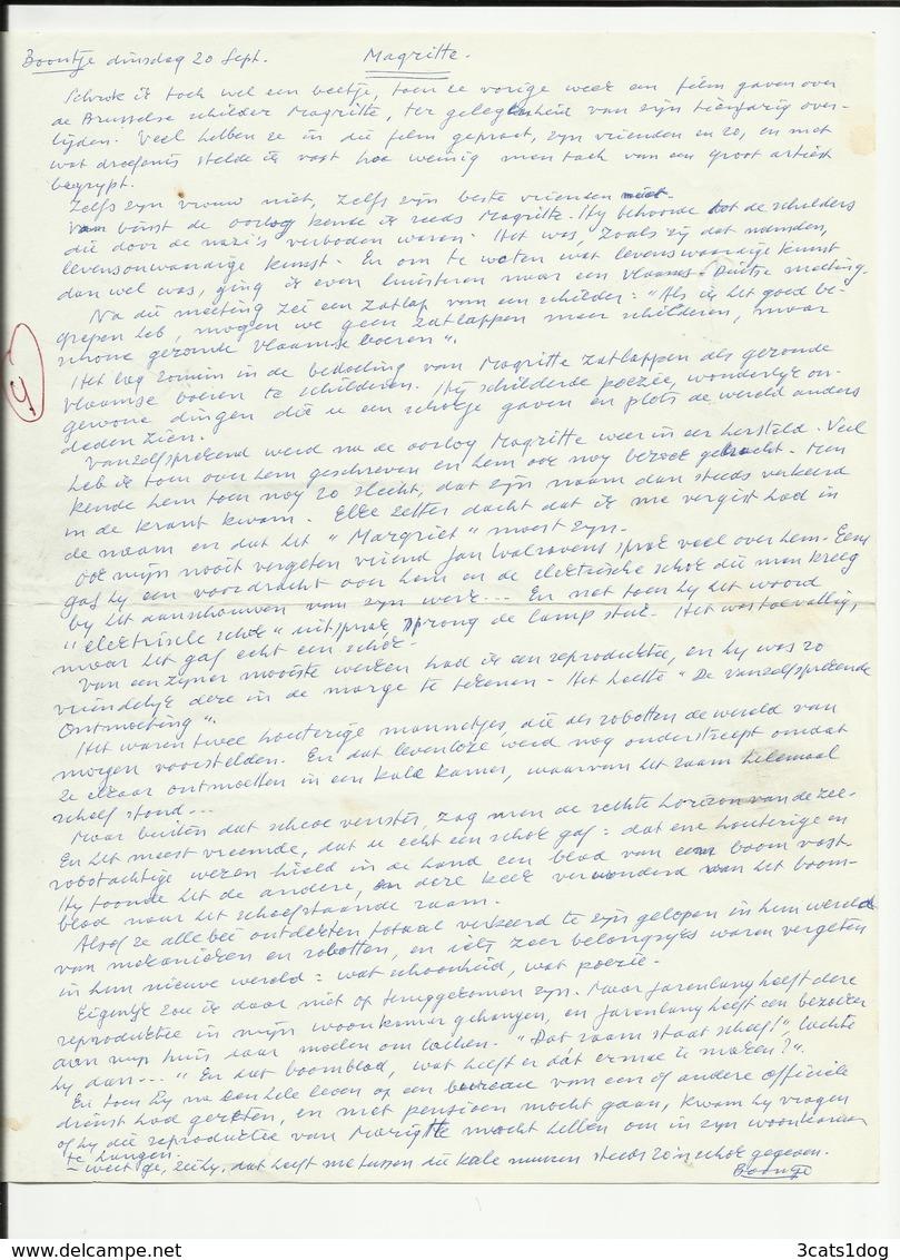 Magritte - Boontje Van L.P. Boon - Manuscripten