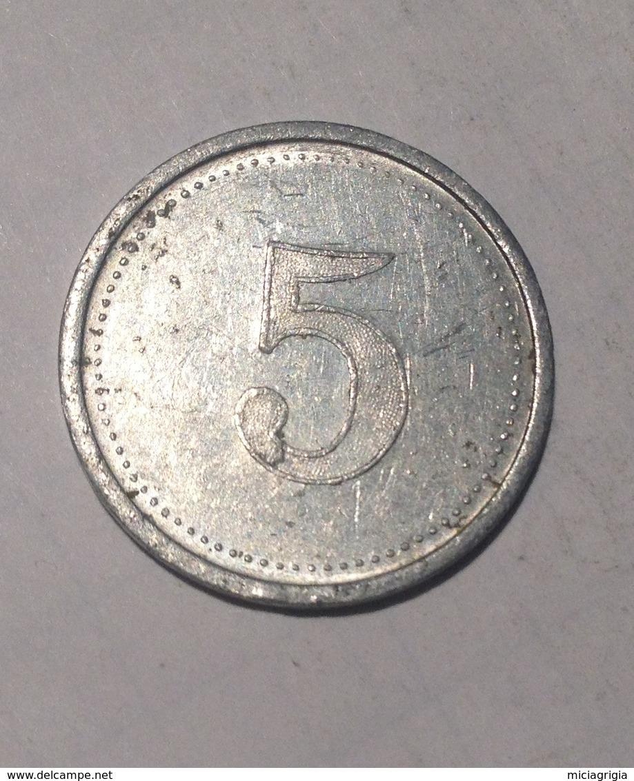 TOKEN GETTONE JETON CALCIO PALERMO 5 - Monetari/ Di Necessità