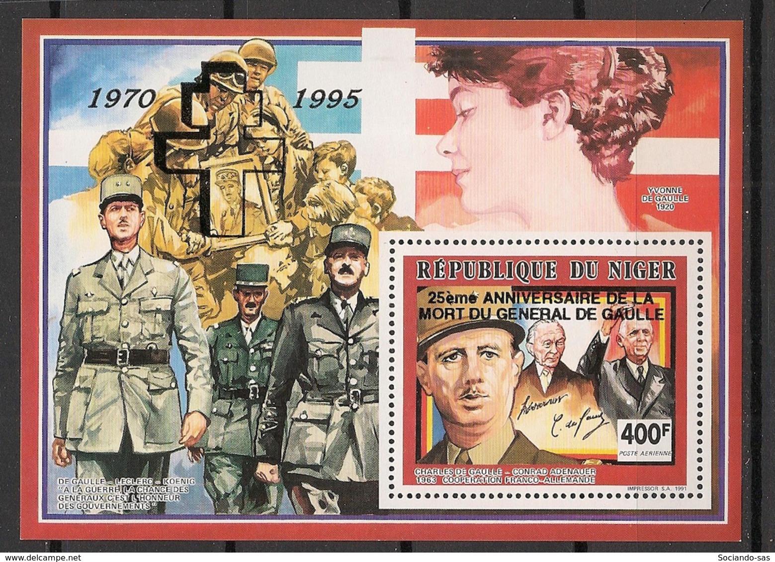 Niger - 1995 - Bloc Feuillet BF N°Yv. 59A - De Gaulle - Neuf Luxe ** / MNH / Postfrisch - De Gaulle (General)
