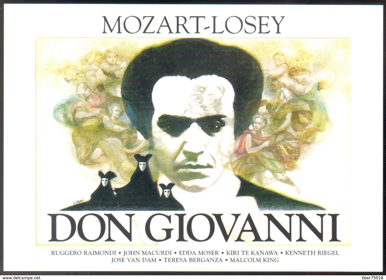 Carte Postale : Don Giovanni (Mozart - Losey) - Illustration Landi (affiche, Film, Cinéma) - Posters On Cards