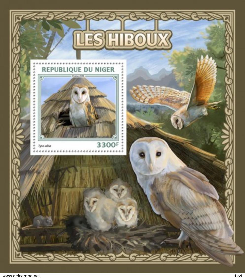 Niger, 2016. [nig16515] Birds, Owls (s\s+bl) - Owls
