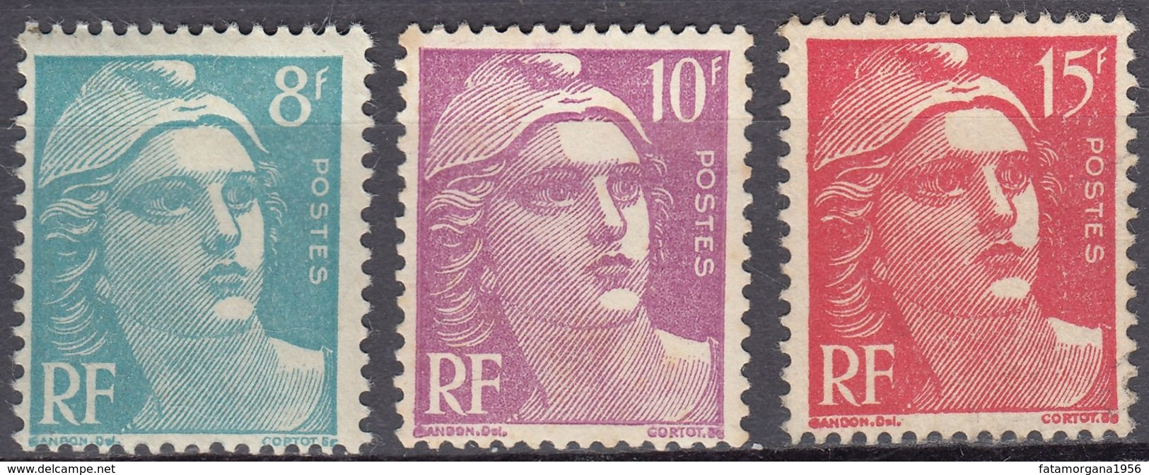FRANCE - 1948 - Lotto Composto Da 3 Valori Nuovi MH: Yvert  810, 811 E 813. - Unused Stamps