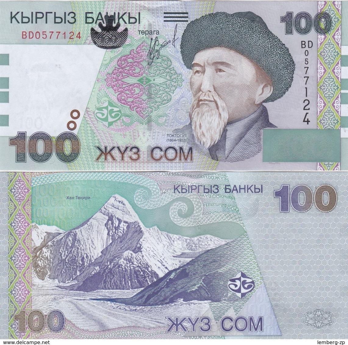Kyrgyzstan - 100 Som 2002 UNC Lemberg-Zp - Kirghizistan