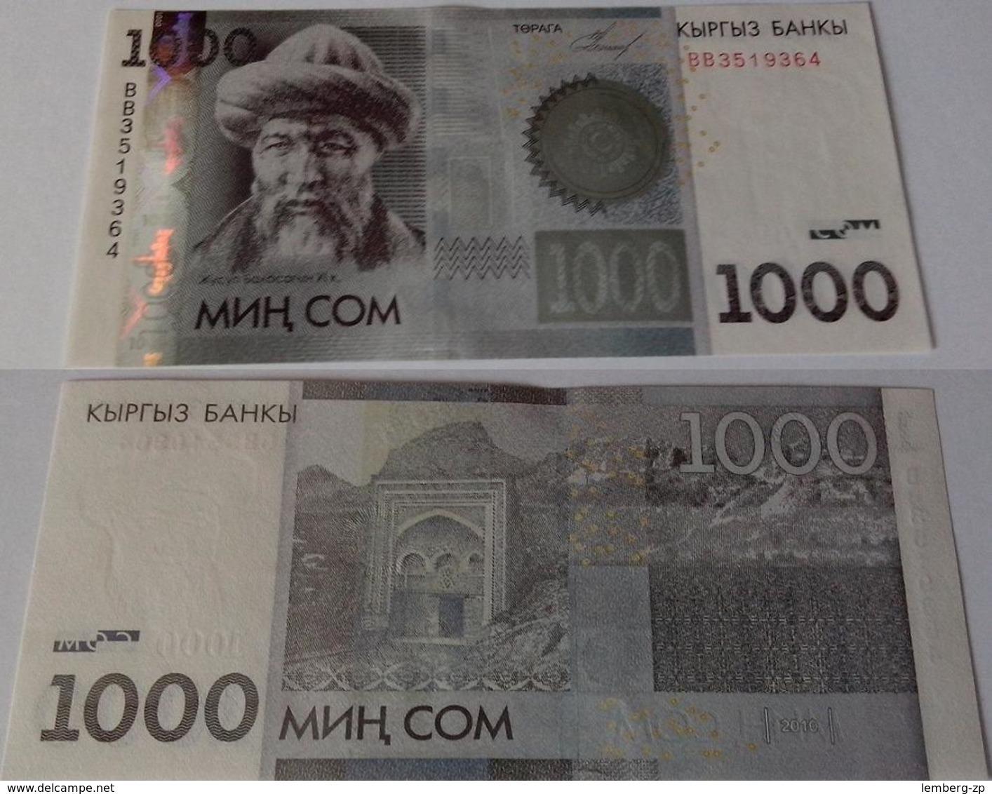 Kyrgyzstan - 1000 Som 2010 UNC Lemberg-Zp - Kirghizistan