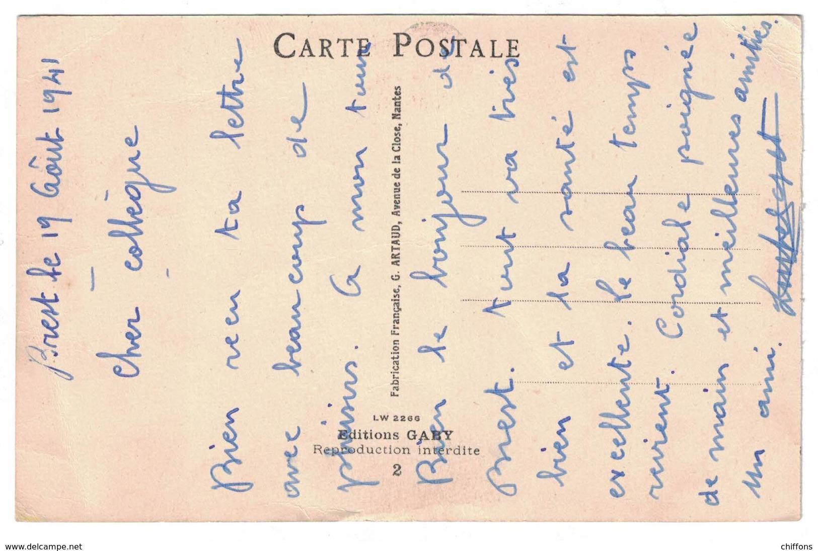 JOE / VOYONS VICTORINE PUISQUE J'TE DIS QU'IL EST TEMPS D'RENTRER / 1941 ECRITURE FABRICATION FRANCAISE G ARTHAUD NANTES - Illustrateurs & Photographes