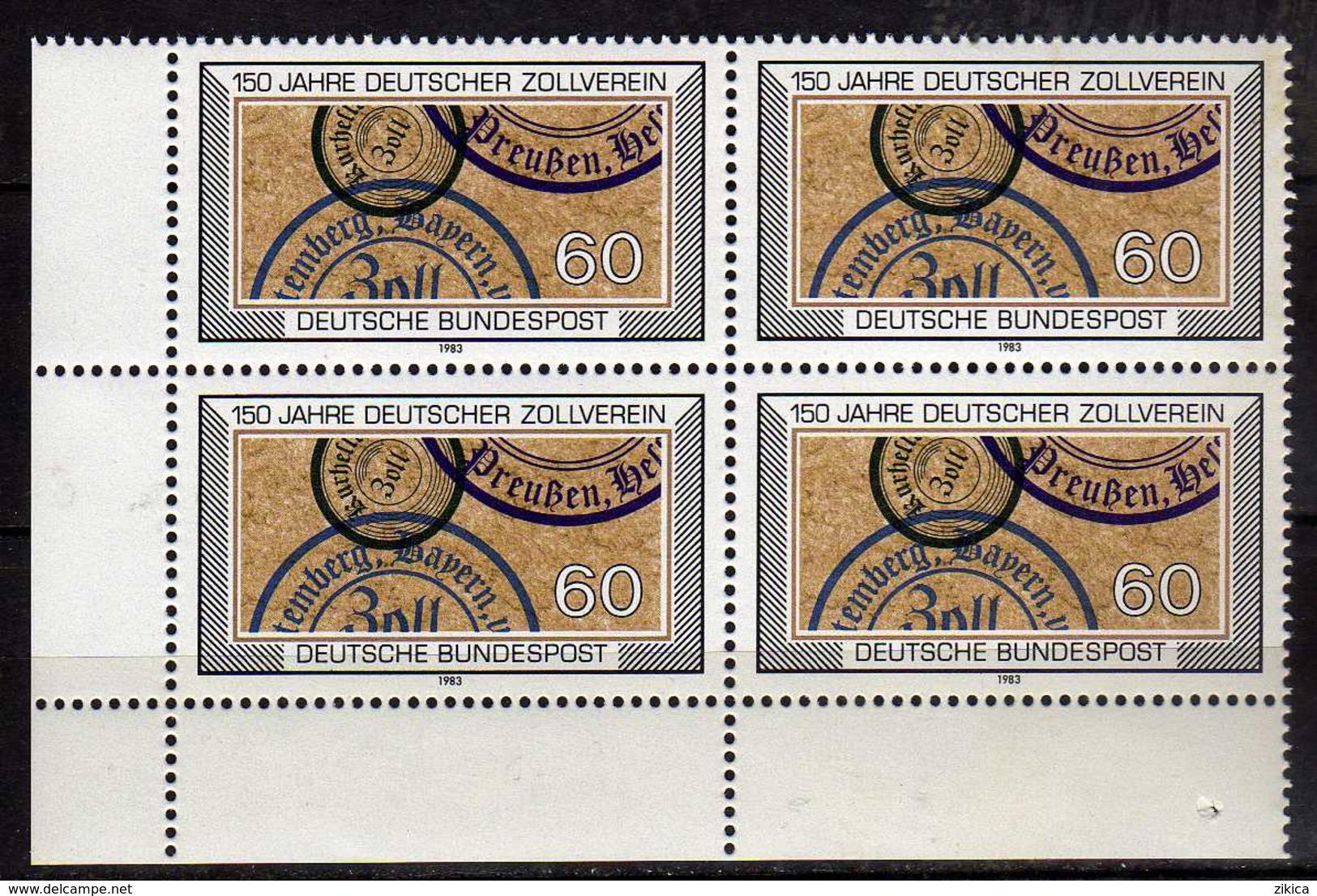 Germany -  1983 The 150th Anniversary Of The Customs Union.4 X Stamps. MNH - [7] République Fédérale