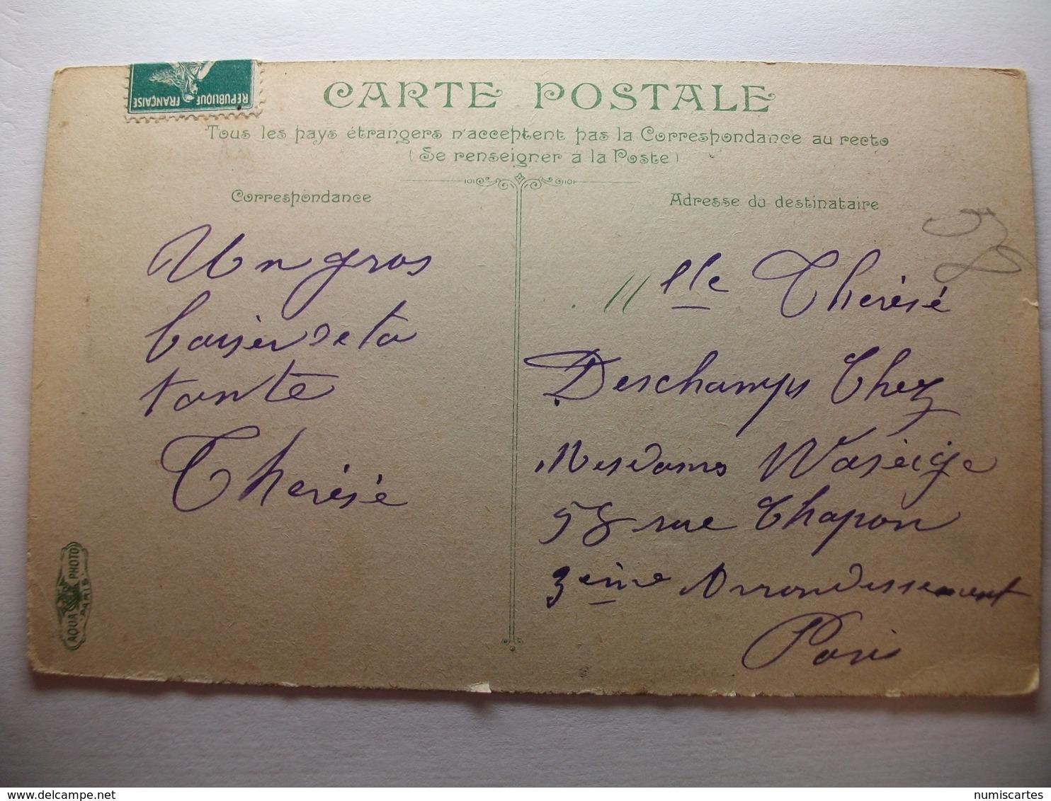 Carte Postale Nice (06) Vue Sur Le Paillon ,prise De Saint François (Petit Format Oblitérée 1908 Timbre 5 Centimes ) - Nice