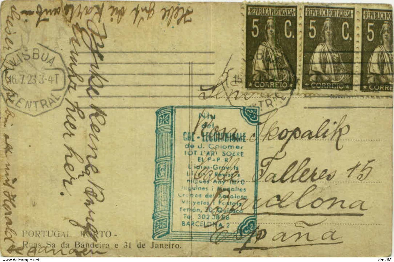 PORTUGAL - PORTO - RUAS SA DA BANDEIRA E 31 DE JANEIRO - 1920s( BG3201) - Porto