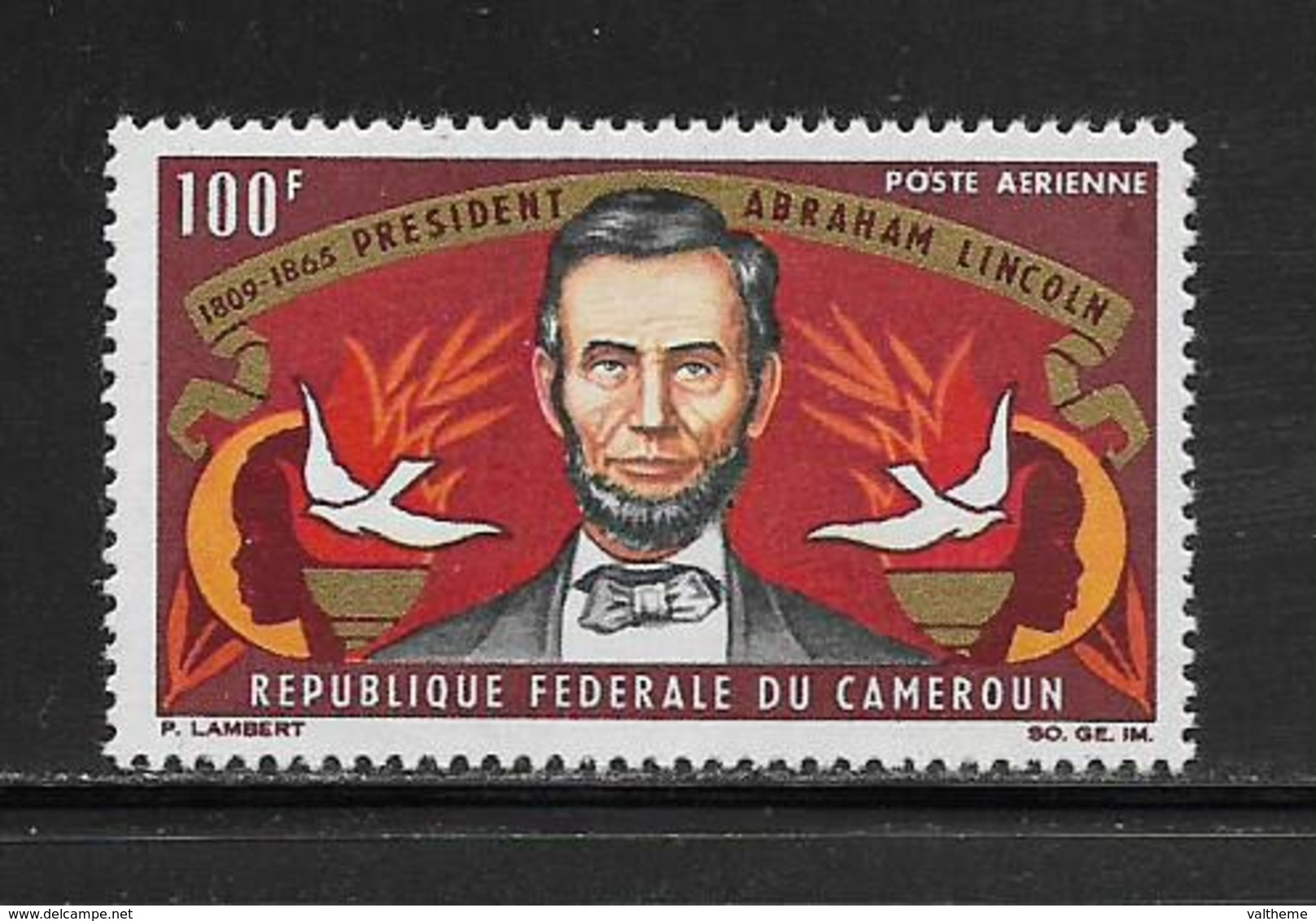 CAMEROUN  ( AFCA - 54 )  1965  N° YVERT ET TELLIER  POSTE AERIENNE N° 64   N** - Cameroun (1960-...)