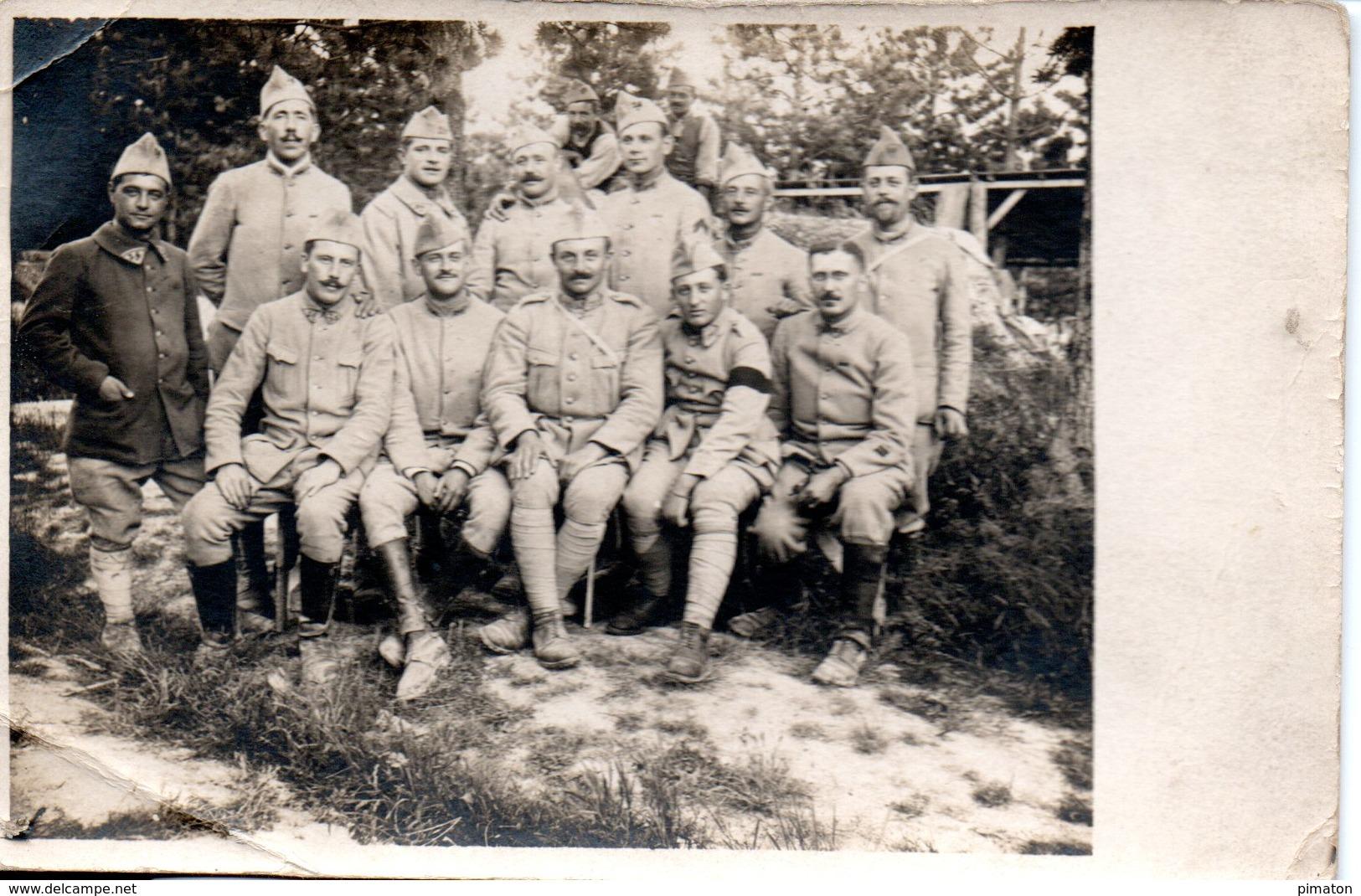 CARTE PHOTO ( à Localiser )  état Major De La 5eme Compagnie - Fotografie