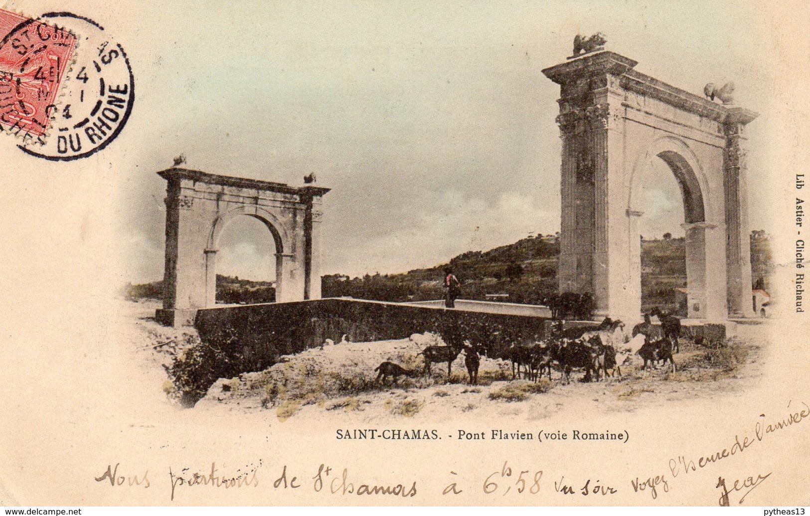 SAINT-CHAMAS - Pont  Flavien (Voie Romaine) - Autres Communes