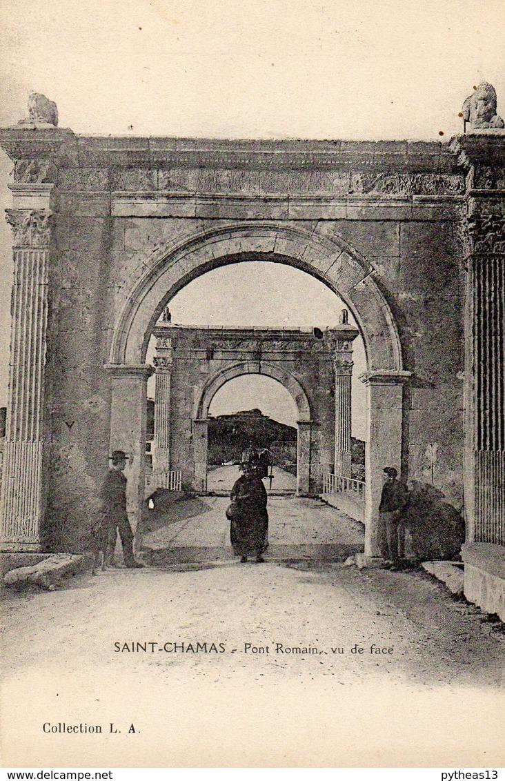 ST-CHAMAS - Pont Romain, Vu De Face - Autres Communes