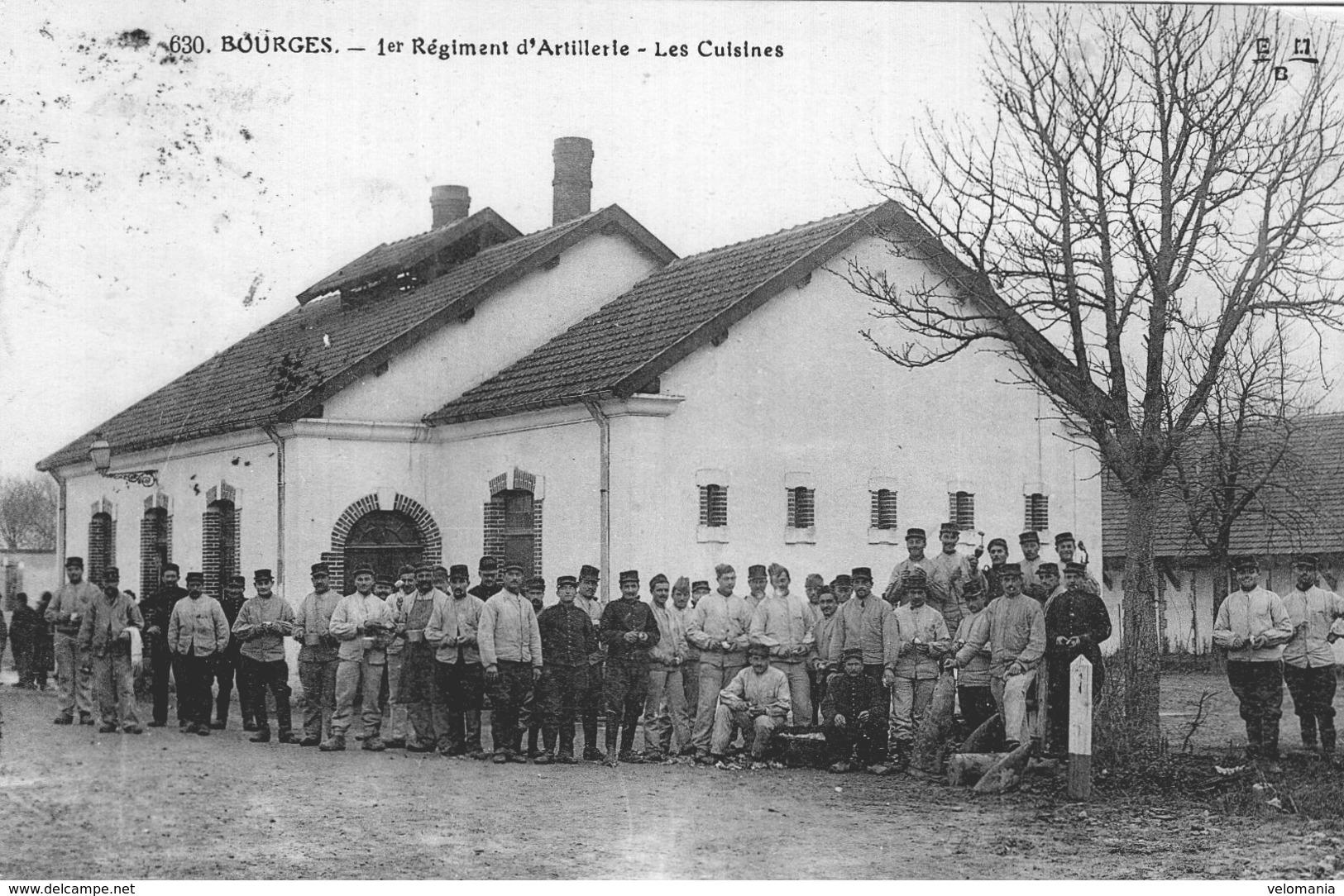 S1742 Cpa 18 Bourges -1er Régiment D'Artillerie, Les Cuisines - Bourges