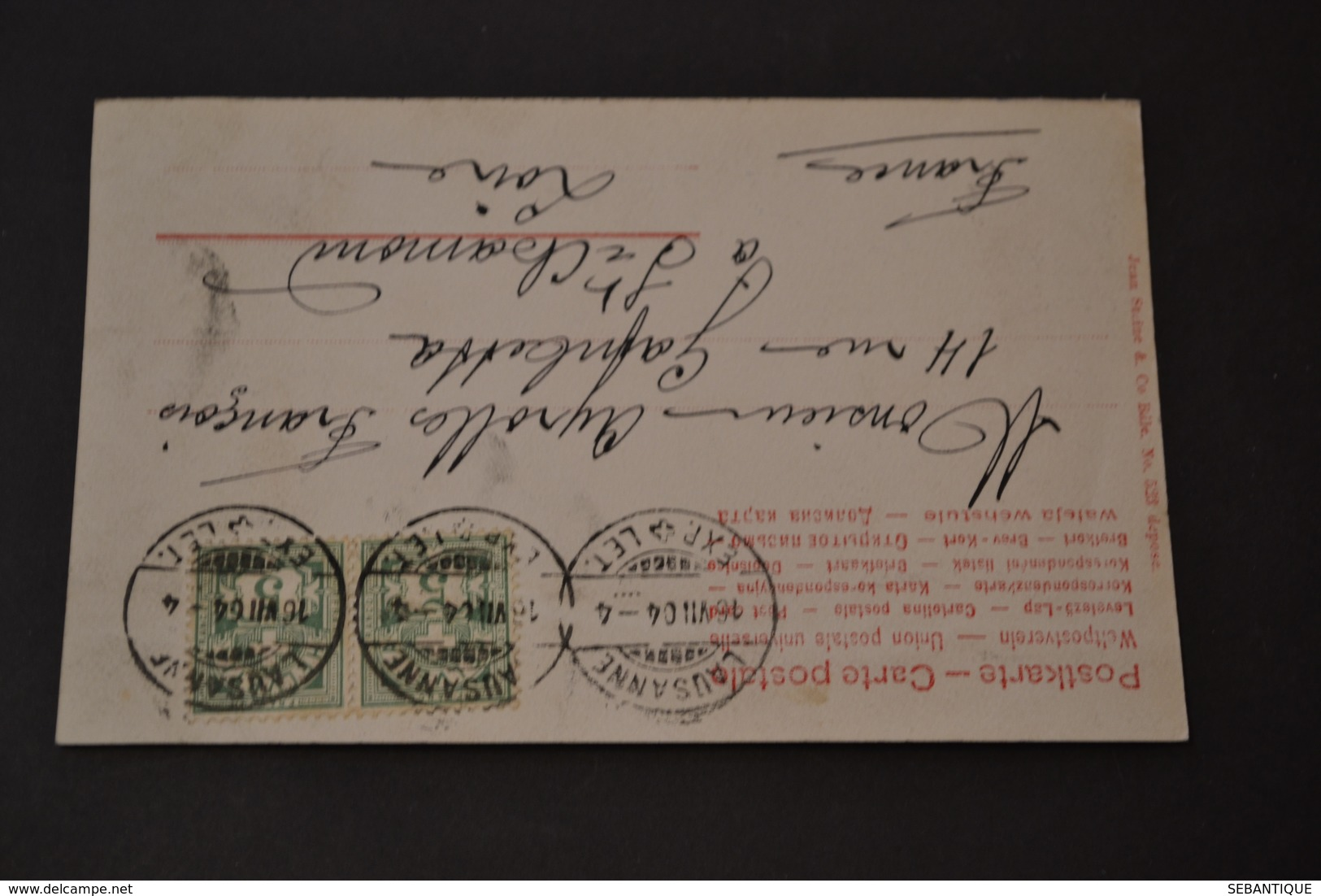 Carte Postale 1904 Suisse Lausanne En Lettres - Suisse