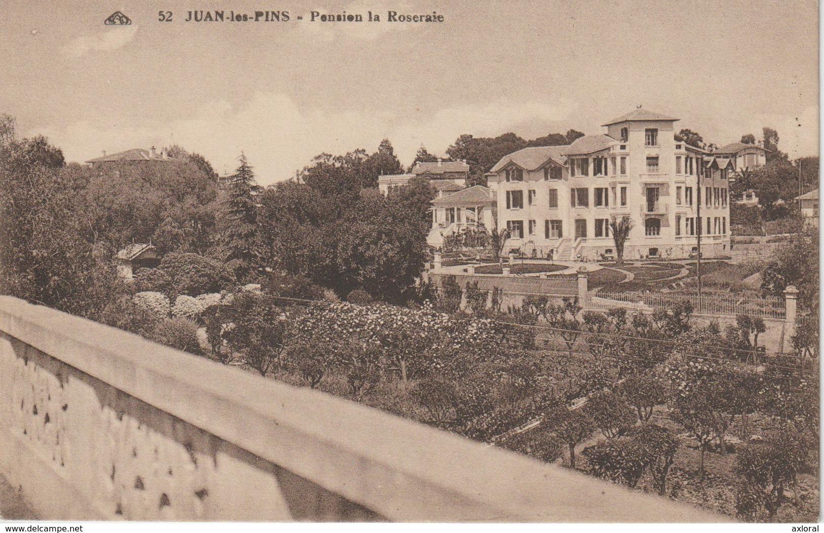 06 JUAN LES PINS 1930 ? Pension LA ROSERAIE Ed. Mlles ROBINS Mercerie - France