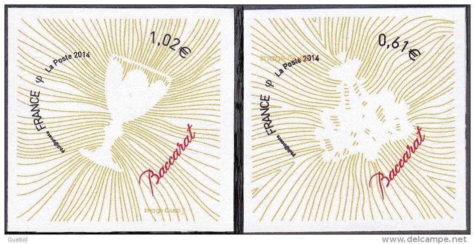 Autoadhésif(s) De France N°  939 Et 940 ** Coeurs 2014 - Baccarat Pour Lettres Vertes - France
