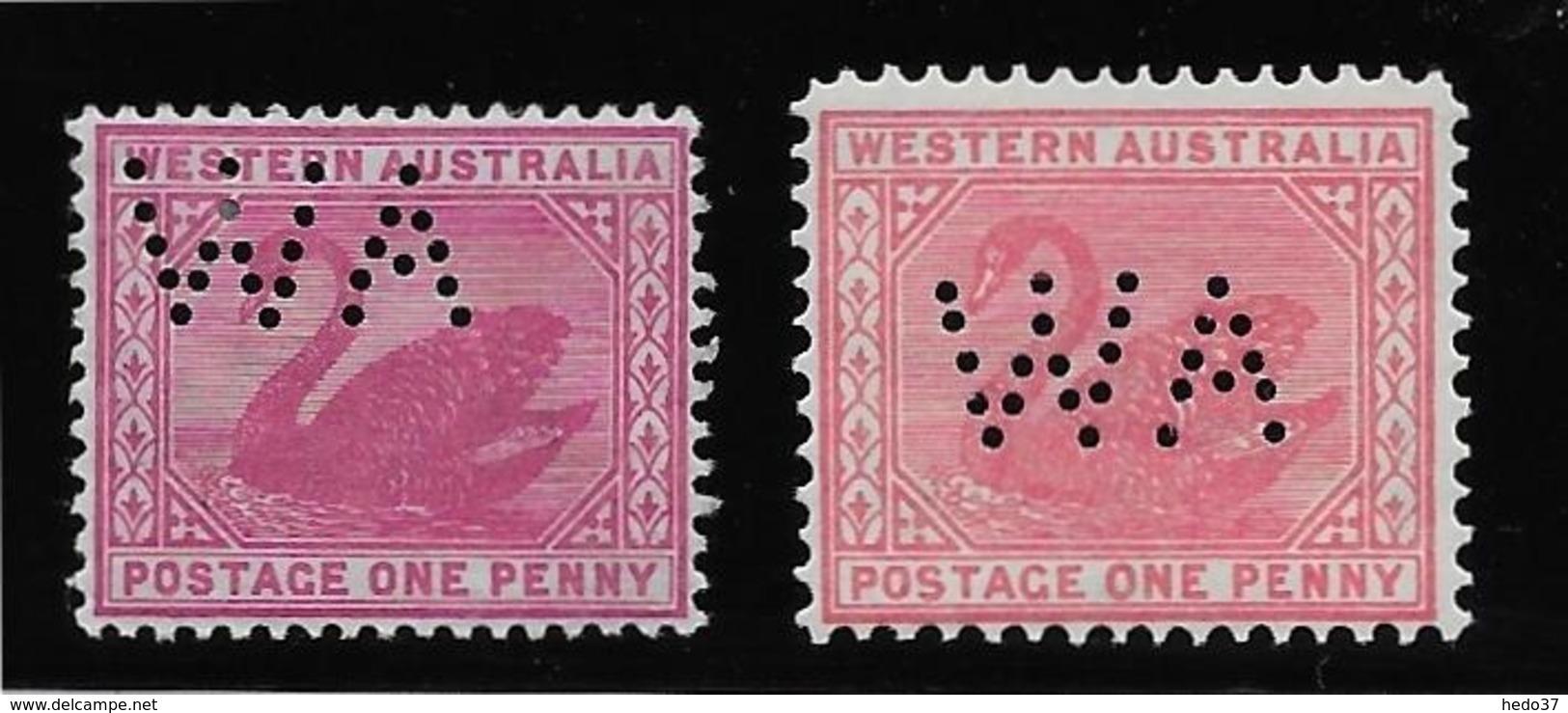 Western Australia Service N°2/3 - Neuf * Avec Charnière - TB - 1854-1912 Western Australia