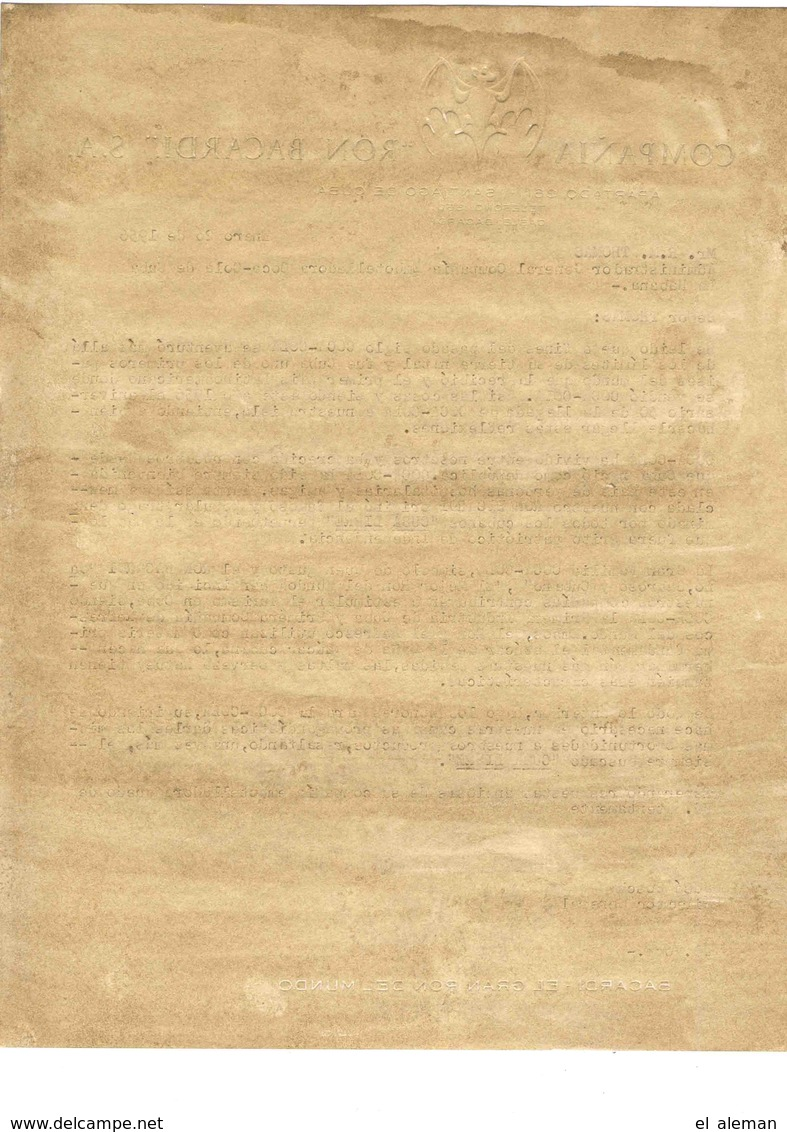 Bacardi Letter 1956,original,from Boss José Bosch(Pepín) To COCA COLA, Mr.Thomas - Historische Dokumente