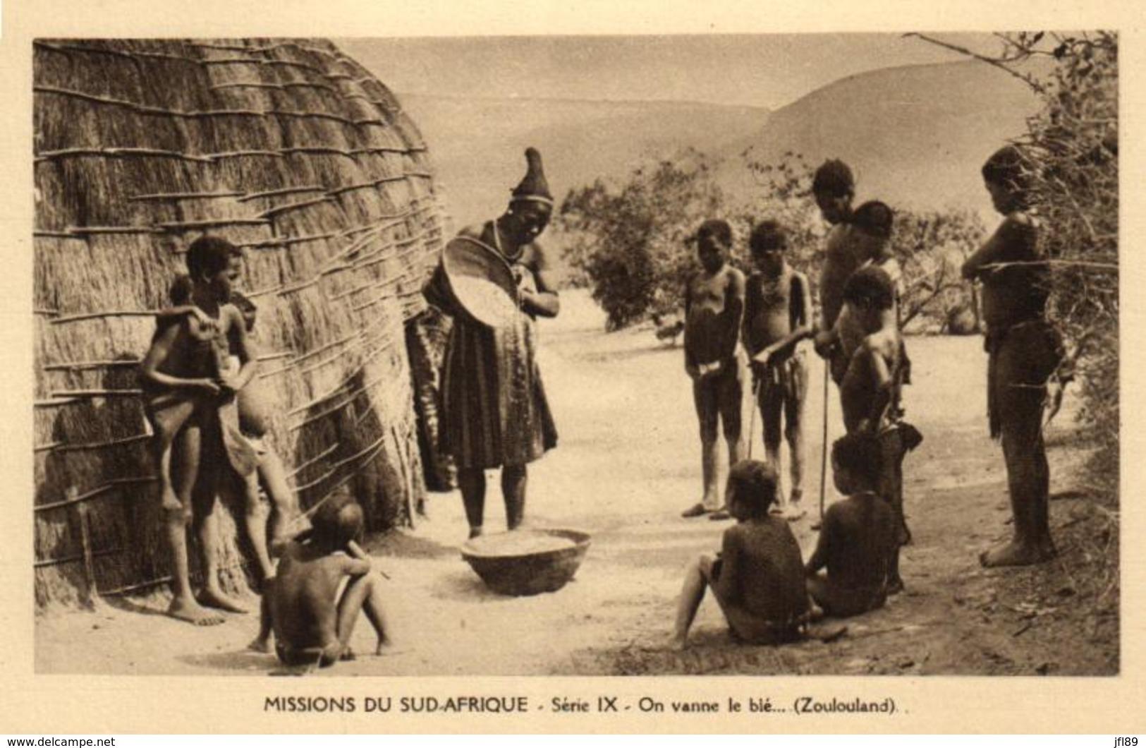 Afrique - Missions Du Sud-Afrique - On Vanne Le Blé (Zoulouland) - C 5657 - Afrique Du Sud