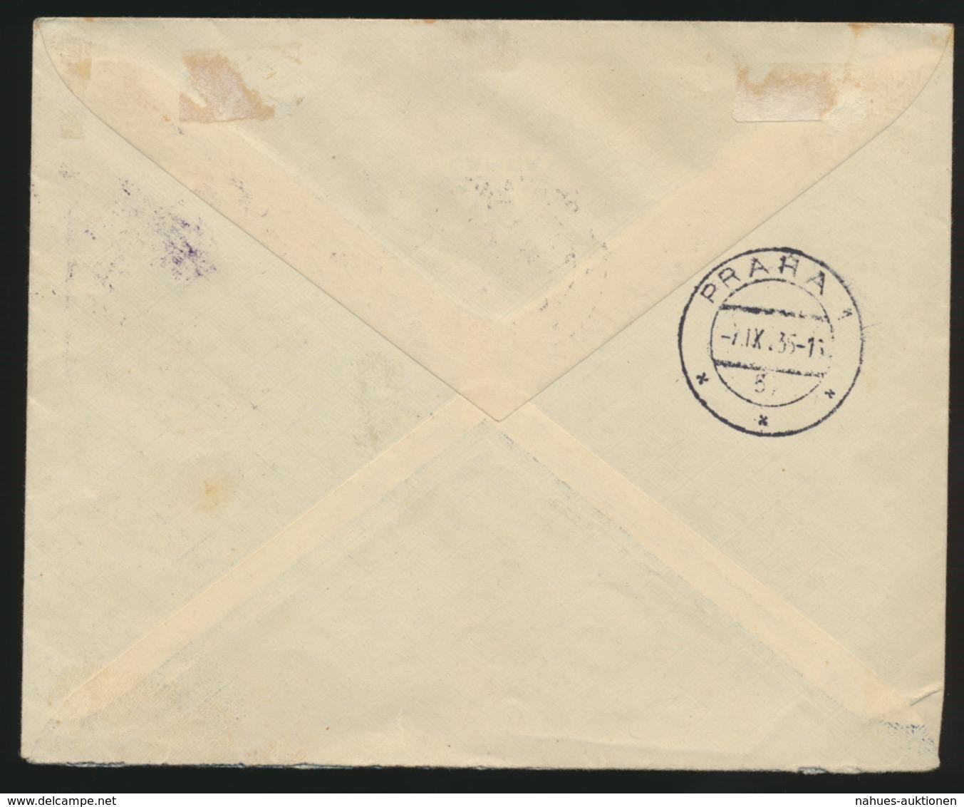 Bulgarien Flugpost Brief Nach Prag Tschechoslowakei 6.9.1935 - Bulgarien