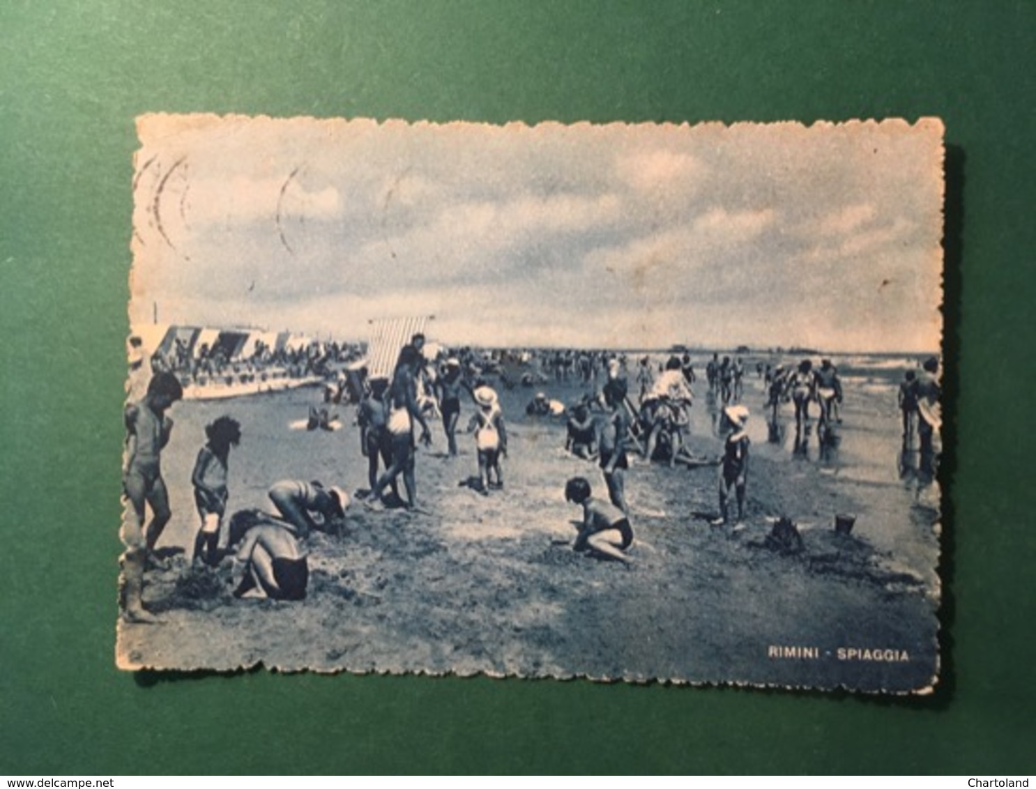 Cartolina La Riviera Di Rimini - Spiaggia - 1953 - Rimini