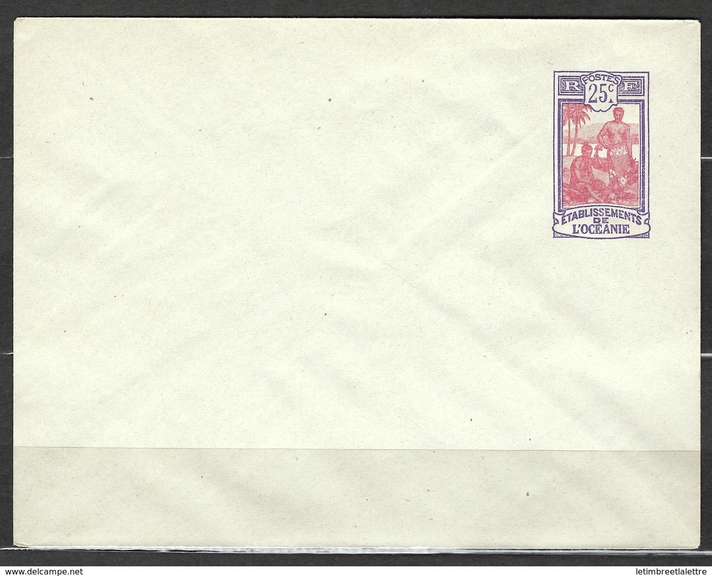 Entier Postal, Etablissement De L'Océanie, EN 22, Très Belle Qualité - Océanie (Établissement De L') (1892-1958)