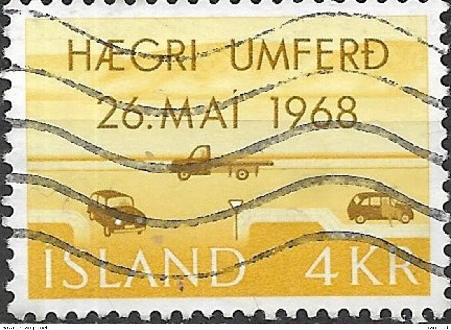 ICELAND 1968 Adoption Of Changed Rule Of The Road - 4k Right-hand Traffic FU - Oblitérés
