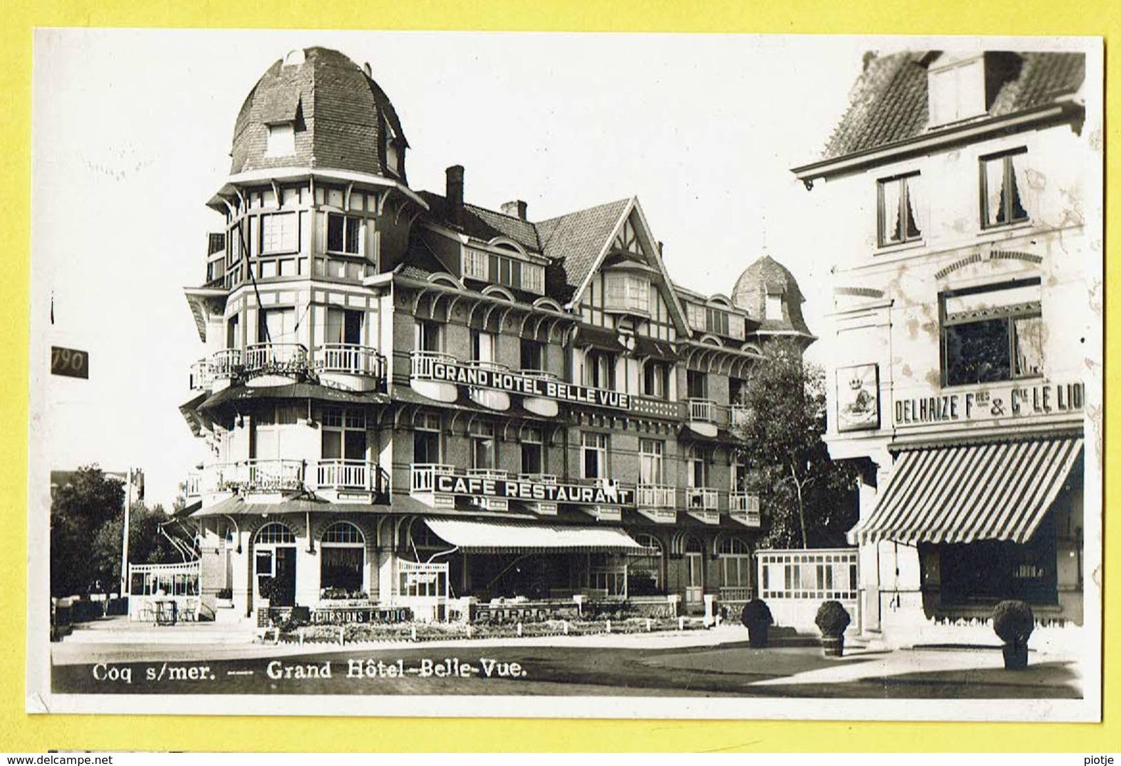 * De Haan - Coq Sur Mer (kust - Littoral) * (Lits) Photo, Grand Hotel Belle Vue, Delhaize, Café Restaurant, Rare, Old - De Haan